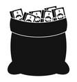 big bag money icon simple black style vector image