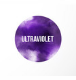 big ultraviolet purple grunge circle on white vector image
