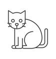 black cat halloween character icon set editable vector image vector image