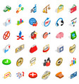 business accessories icons set isometric style vector image vector image