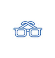 businessman glasses line icon concept businessman vector image vector image