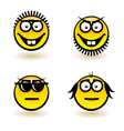 Cartoon faces vector image vector image