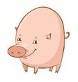 cartoon piglet vector image vector image