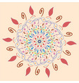 circular ornament in the form of a flower vector image vector image