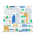 City Life - line design composition vector image vector image