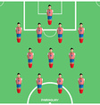 Computer game Paraguay Football club player vector image vector image