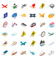 crossroad icons set isometric style vector image vector image