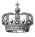 Crown hand-drawn vector image vector image