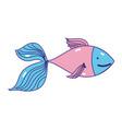 cute fish exotic sea animal vector image