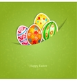Easter green background with egg vector image