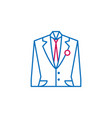 elections suit outline colored icon can be used vector image vector image