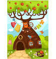 fairy tree vector image vector image