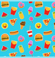 Fast food icons and stickers