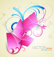 floral style background vector image