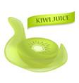 fresh of kiwi juice mockup realistic style vector image vector image