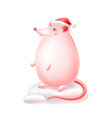funny mouse or rat symbol new year greeting vector image
