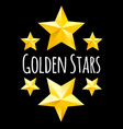 golden star symbols yellow elements for vector image vector image