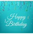 Happy birthday celebration background template vector image vector image