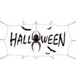 happy halloween card drip text spider web vector image vector image