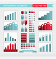 infographic elements charts graph diagram vector image vector image