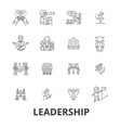leadership leader management teamwork lead vector image vector image