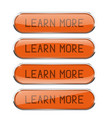 Learn more orange oval buttons set of glass icons