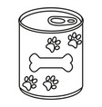 line art black and white canned pet food vector image vector image