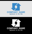 logo template with arrows on light and on a black vector image