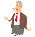manager businessman or boss character vector image vector image