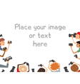 many Cameramans isolated on white background vector image
