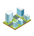 modern business district isometric icon vector image vector image