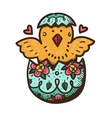 New born chicken in egg vector image vector image