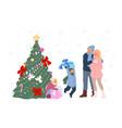 new year celebration childish gifts under xmas vector image