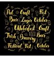 Oktoberfest Gold Lettering Design vector image