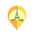 On-line Map Marker With Eifel Tower vector image