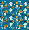 patttern for halloween vector image vector image