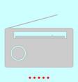 radio it is icon vector image vector image