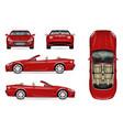 realistic convertible car vector image
