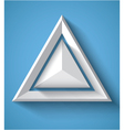 Realistic geometrical background with triangle