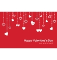 red greeting card for Valentines Day vector image vector image