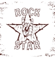 Rock star background vector image