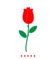rose icon different color vector image vector image