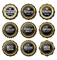 seal quality badge labels premium vector image vector image