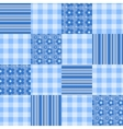 seamless patchwork pattern blue vector image vector image