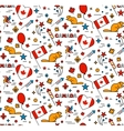 seamless pattern for canada day 1st july vector image