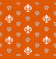 seamless pattern with royal lilies vector image vector image