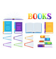 set book icons vector image vector image