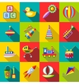 Set kids toys vector image