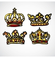 Set of doodle crowns vector | Price: 1 Credit (USD $1)