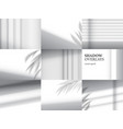 shadow overlays for mockups vector image vector image